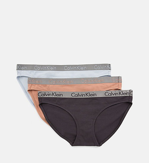 CALVIN KLEIN 3 Pack Bikini Briefs - Radiant Cotton - UNITY/ASHFORD GREY/TEAR DROP - CALVIN KLEIN ALL GIFTS - detail image 1