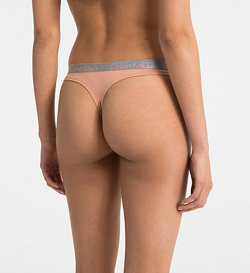 CALVINKLEIN 3 Pack Thongs - Radiant Cotton - UNITY/ASHFORD GREY/TEAR DROP - CALVIN KLEIN ALL GIFTS - detail image 1