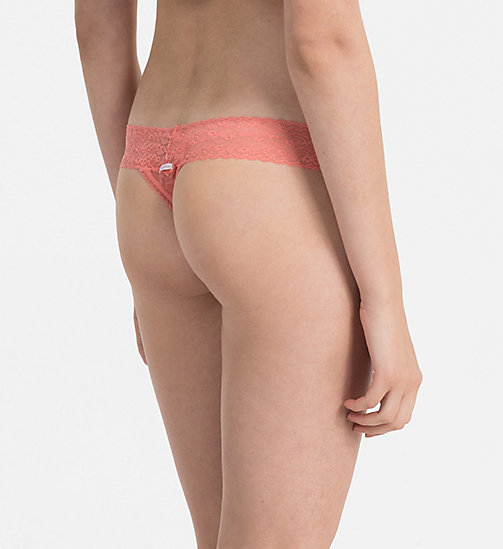 CALVINKLEIN Thong - Bare Lace - BRIGHT QUARTZ - CALVIN KLEIN THONGS - detail image 1