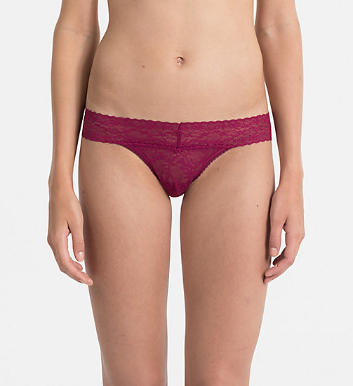 CALVINKLEIN Thong - Bare Lace - INDULGE - CALVIN KLEIN KNICKERS - main image