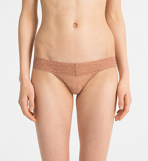 CALVIN KLEIN Thong - Bare Lace - WILTED - CALVIN KLEIN NEW FOR WOMEN - main image