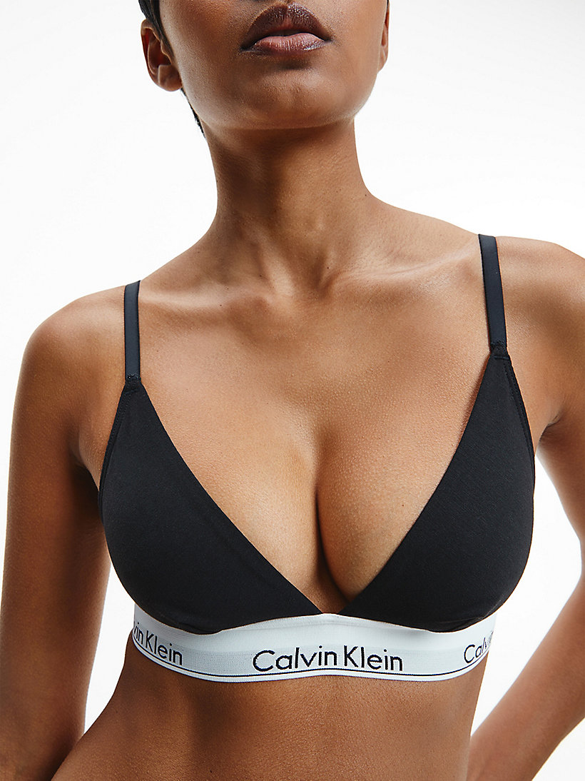 CALVINKLEIN Triangle Bra - Modern Cotton - GREY HEATHER - CALVIN KLEIN UNDERWEAR - detail image 3
