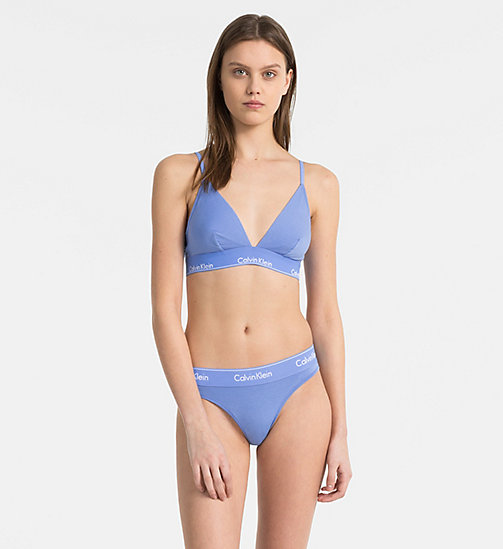 CALVIN KLEIN Triangel-BH - Modern Cotton - PERIWINKLE BLUE - CALVIN KLEIN NEW IN - main image 1