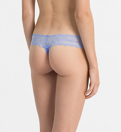 CALVINKLEIN Thong - Seductive Comfort - CAROLINA BLUE - CALVIN KLEIN THONGS - detail image 1