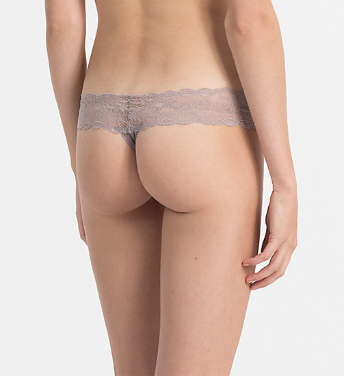 CALVINKLEIN Thong - Seductive Comfort - GREY SAND - CALVIN KLEIN KNICKERS - detail image 1