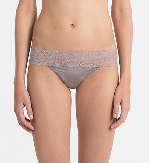 CALVINKLEIN Thong - Seductive Comfort - GREY SAND - CALVIN KLEIN ESSENTIAL SETS - main image