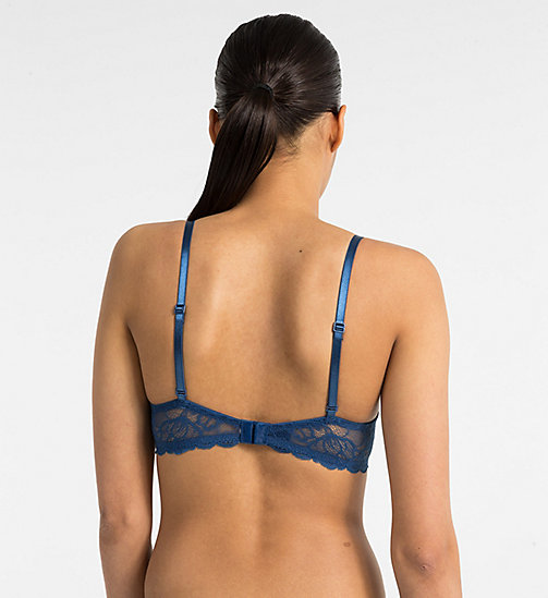 CALVINKLEIN Demi Bra - Seductive Comfort - LYRIA BLUE - CALVIN KLEIN NEW FOR WOMEN - detail image 1