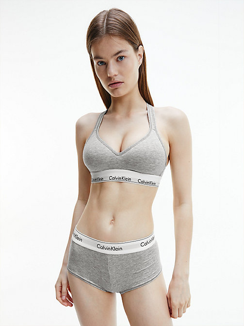 CALVIN KLEIN Bralette - Modern Cotton - GREY HEATHER - CALVIN KLEIN SHOP BY SET - dettaglio immagine 1