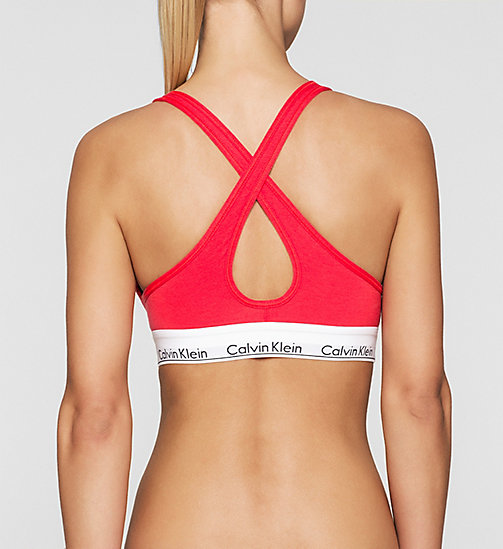 CALVINKLEIN Bustier - Modern Cotton - EVOCATIVE RED (CLASSIC WB) -  BHs - main image 1