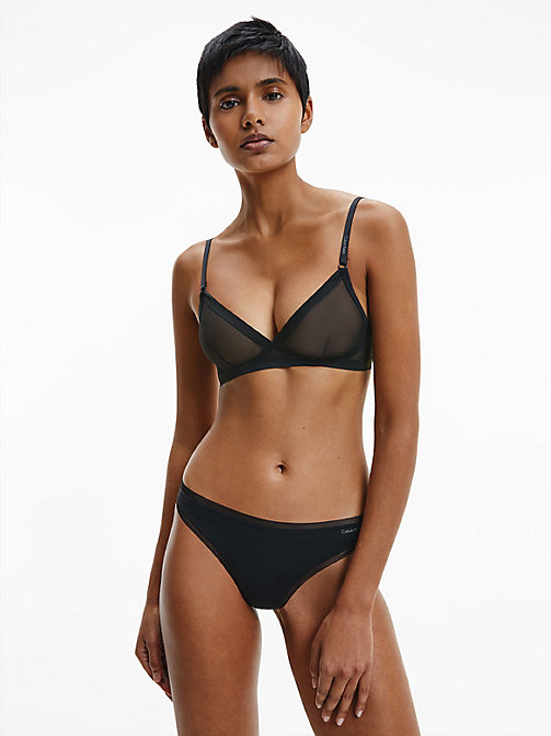 CALVIN KLEIN Стринги - Sculpted - BLACK - CALVIN KLEIN БАЗОВЫЕ КОМПЛЕКТЫ - подробное изображение 1