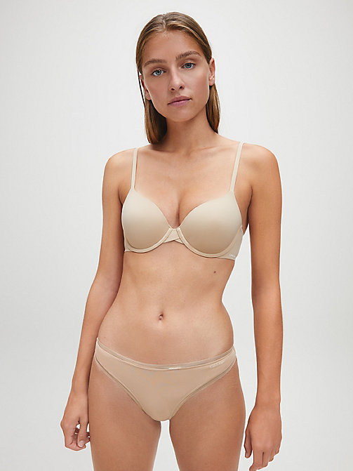 CALVIN KLEIN Стринги - Sculpted - BARE - CALVIN KLEIN БАЗОВЫЕ КОМПЛЕКТЫ - подробное изображение 1