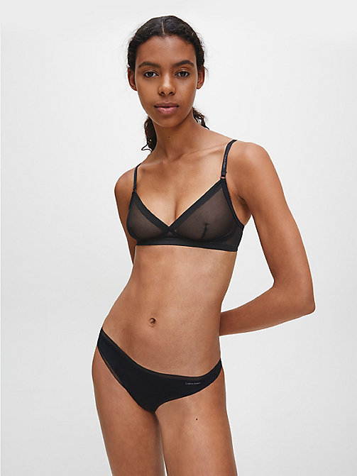 CALVIN KLEIN Triangle Bra - Sculpted - BLACK - CALVIN KLEIN ESSENTIAL SETS - detail image 1