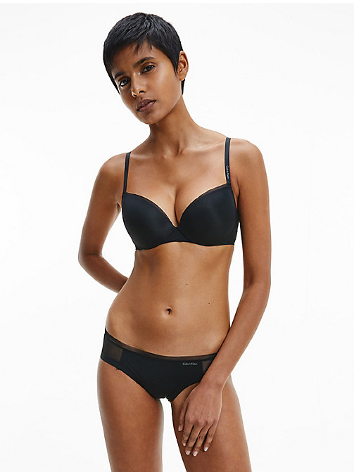 CALVIN KLEIN Plunge Bra - Sculpted - BLACK - CALVIN KLEIN ESSENTIAL SETS - detail image 1