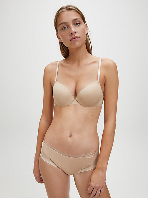 CALVIN KLEIN Plunge Push-Up Bra - Sculpted - BARE - CALVIN KLEIN ESSENTIAL SETS - detail image 1