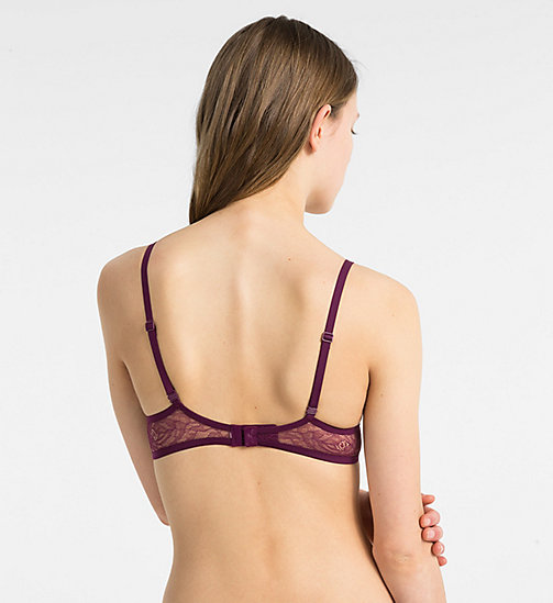 CALVINKLEIN Push-up plunge BH - CK Black Obsess - BRIGHT PLUM - CALVIN KLEIN SHOP PER SET - detail image 1