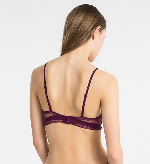 CALVINKLEIN Triangle Bra - CK Black Obsess - BRIGHT PLUM - CALVIN KLEIN ALL GIFTS - detail image 1