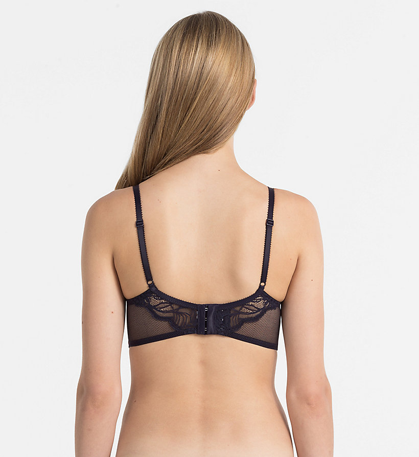 CALVINKLEIN Plunge Push-Up Bra - CK Black Enamored - WINTER MIST - CALVIN KLEIN UNDERWEAR - detail image 1