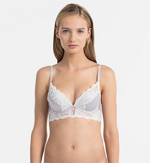 CALVINKLEIN Plunge Push-Up Bra - CK Black Enamored - WINTER MIST - CALVIN KLEIN BRAS - main image