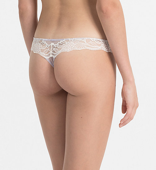 CALVINKLEIN Thong - CK Black Enamored - WINTER MIST - CALVIN KLEIN KNICKERS - detail image 1