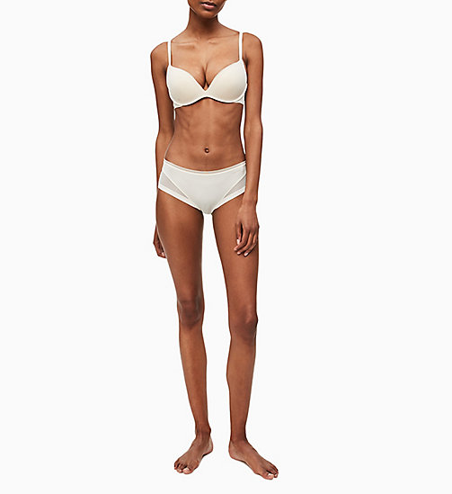 CALVINKLEIN Push-Up Plunge Bra - Sculpted - IVORY - CALVIN KLEIN ESSENTIAL SETS - detail image 1