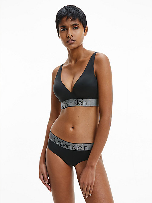 CALVINKLEIN Plunge Push-up-BH - Customized Stretch - BLACK - CALVIN KLEIN BHs - main image 1
