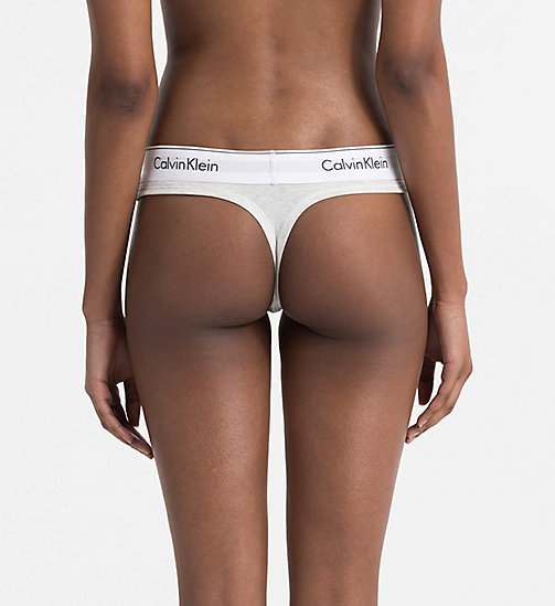 CALVINKLEIN Thong - Modern Cotton - SNOW HEATHER_NEON NEPS - CALVIN KLEIN SHOP BY SET - detail image 1