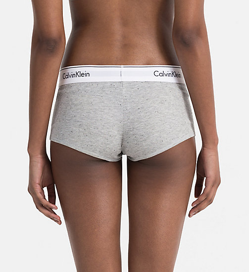 CALVINKLEIN Hipsters - Modern Cotton - GRAPHIC RIB_GREY HEATHER - CALVIN KLEIN BOY SHORTS - detail image 1
