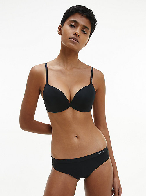 CALVINKLEIN Push-Up Plunge Bra - CK Form - BLACK -  ESSENTIAL SETS - detail image 1