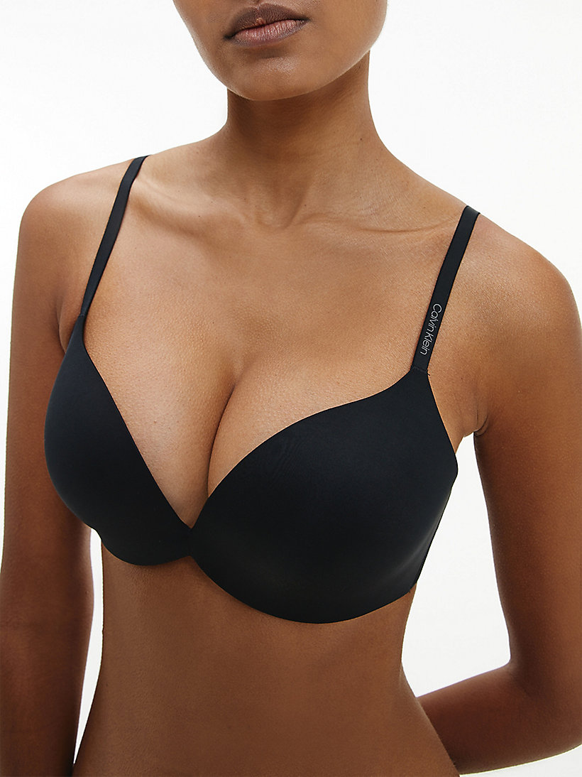 CALVIN KLEIN Plunge Push-Up Bra - Calvin Klein Form - EFFORTLESS ANIMAL - CALVIN KLEIN UNDERWEAR - detail image 3