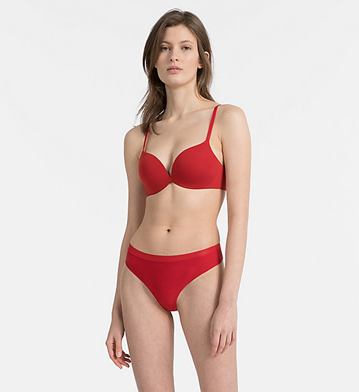 CALVIN KLEIN Push-up-Plunge-BH - CK Form - MANIC RED - CALVIN KLEIN UNDERWEAR - main image 1