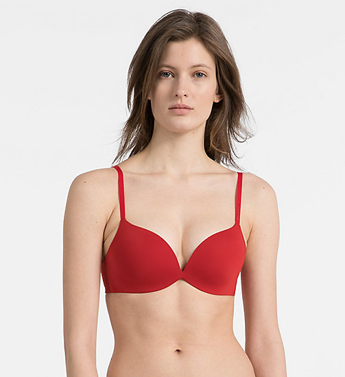 CALVIN KLEIN Push-Up Plunge Bra - CK Form - MANIC RED - CALVIN KLEIN WOMEN - main image