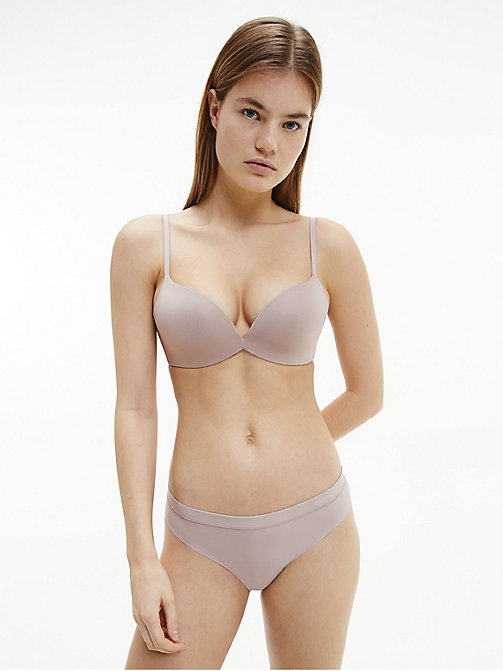 CALVINKLEIN Push-Up Plunge Bra - CK Form - SILVER ROSE -  ESSENTIAL SETS - detail image 1