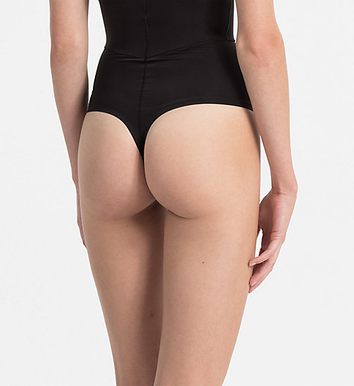 CALVINKLEIN High Waisted Thong - Sculpted - BLACK - CALVIN KLEIN UNDERWEAR - detail image 1