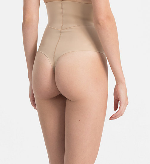 CALVINKLEIN High Waisted Thong - Sculpted - BARE - CALVIN KLEIN ESSENTIAL SETS - detail image 1