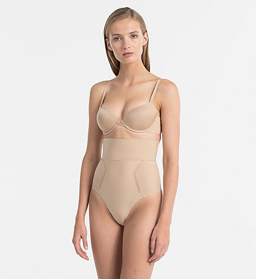 CALVIN KLEIN High Waisted Thong - Sculpted - BARE - CALVIN KLEIN ESSENTIAL SETS - detail image 1