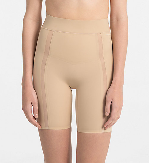 CALVINKLEIN High Waisted Shorts - Sculpted - BARE - CALVIN KLEIN BOY SHORTS - main image