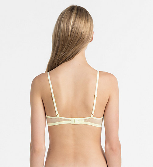 CALVINKLEIN Triangle Bra - Youthful Lingerie - AGNES YELLOW - CALVIN KLEIN Youthful Lingerie - detail image 1