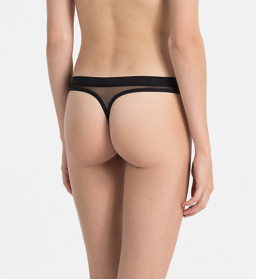 CALVINKLEIN Thong - Youthful Lingerie - BLACK - CALVIN KLEIN THONGS - detail image 1