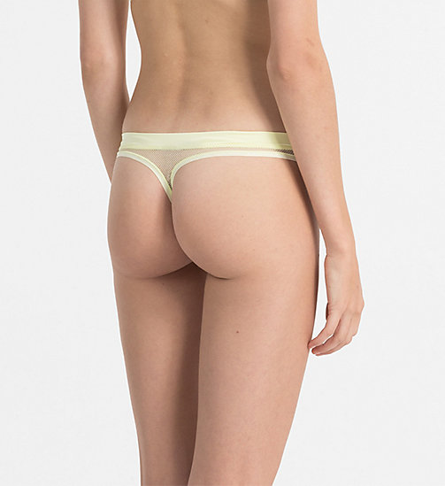 CALVINKLEIN Thong - Youthful Lingerie - AGNES YELLOW - CALVIN KLEIN THONGS - detail image 1