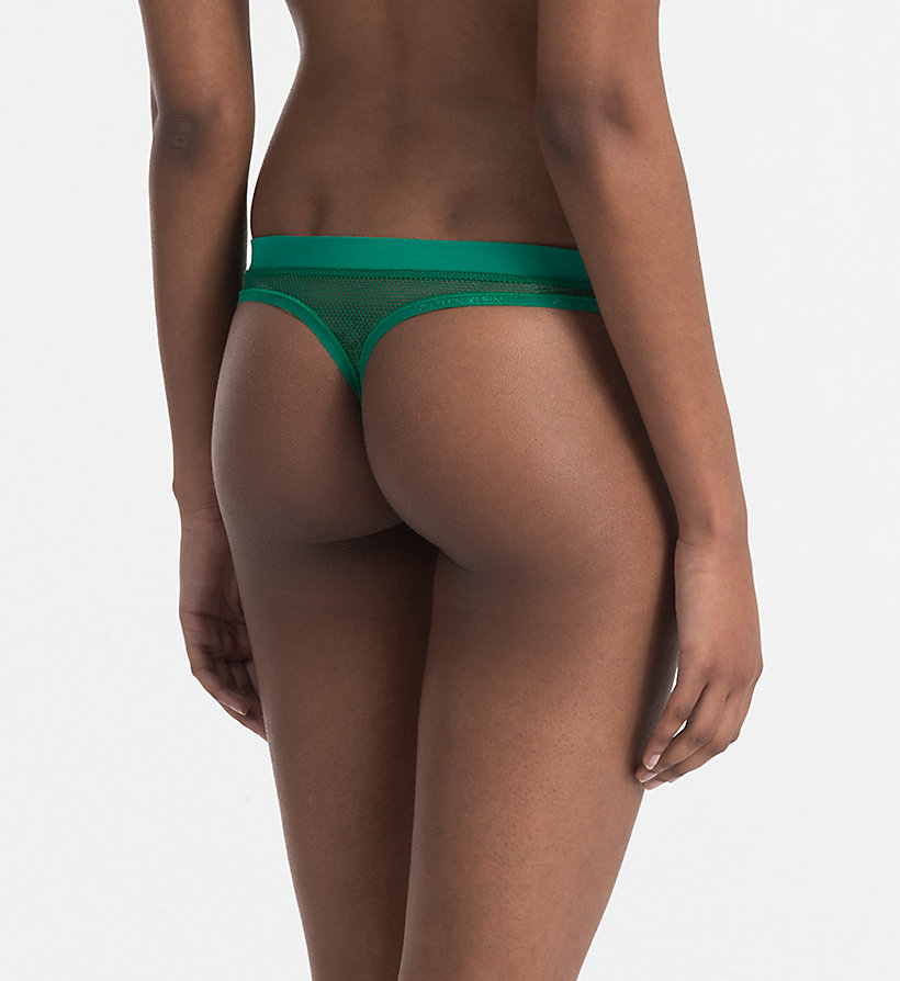 CALVINKLEIN Thong - Youthful Lingerie - CLASSIC PALM PRINT - CALVIN KLEIN UNDERWEAR - detail image 2