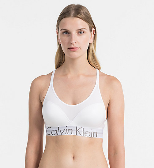 CALVINKLEIN Bralette push-up - Focused Fit - WHITE - CALVIN KLEIN INTIMO - immagine principale