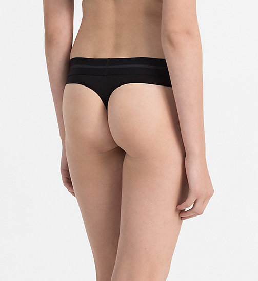 CALVINKLEIN Thong - Focused Fit - BLACK - CALVIN KLEIN THONGS - detail image 1