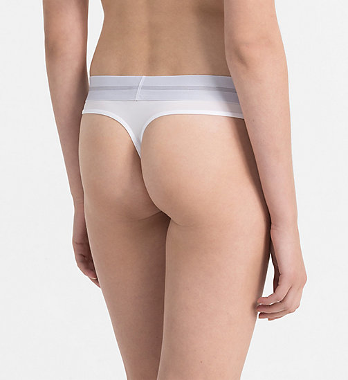 CALVINKLEIN Thong - Focused Fit - WHITE - CALVIN KLEIN THONGS - detail image 1