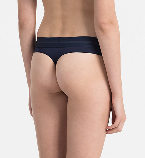 CALVINKLEIN Thong - Focused Fit - BLUE SHADOW - CALVIN KLEIN UNDERWEAR - detail image 1