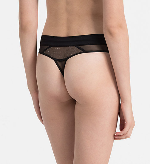 CALVINKLEIN Thong - Mixed Mesh - BLACK - CALVIN KLEIN SHOP BY SET - detail image 1