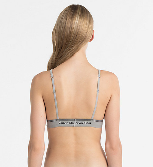 CALVINKLEIN Triangle Bra - Heritage - GREY HEATHER - CALVIN KLEIN LOGO SHOP - detail image 1