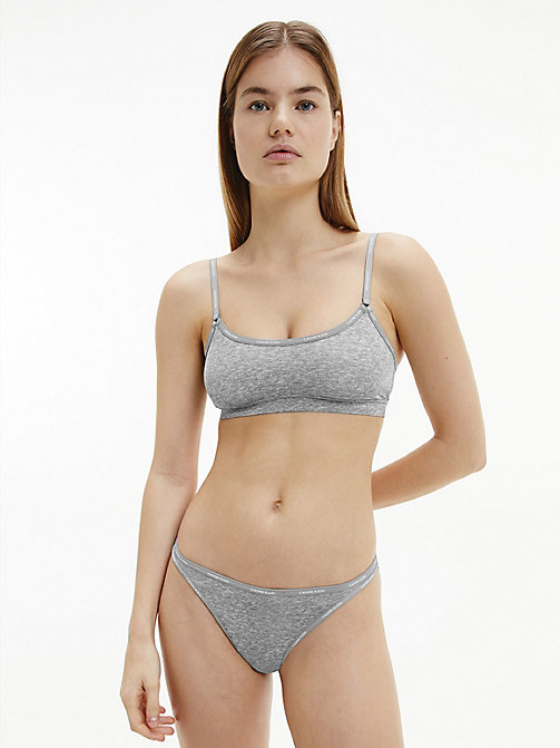 CALVIN KLEIN Bralette - Youthful Lingerie - PRINTED GREY HEATHER - CALVIN KLEIN BRALETTES - detail image 1
