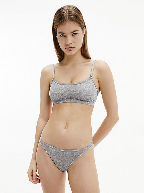 CALVIN KLEIN Thong - Youthful Lingerie - PRINTED GREY HEATHER - CALVIN KLEIN THONGS - detail image 1