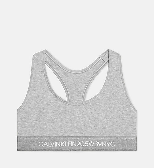 CALVIN KLEIN 205W39NYC Logo bralette - HEATHER GREY - CALVIN KLEIN ONDERGOED - main image