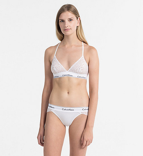 CALVINKLEIN Triangle Bra - Modern Cotton - WHITE - CALVIN KLEIN SHOP BY SET - detail image 1